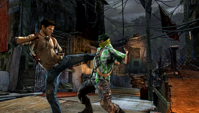 Uncharted: Golden Abyss - Drake Attacking