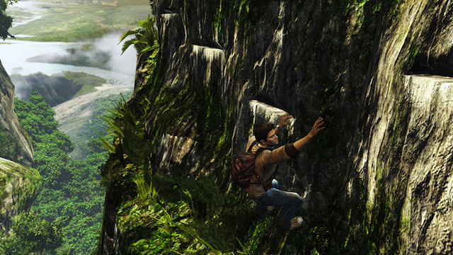 Uncharted: Golden Abyss - Drake Scaling Cliff