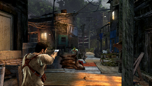 Uncharted: Golden Abyss - Drake Shooting