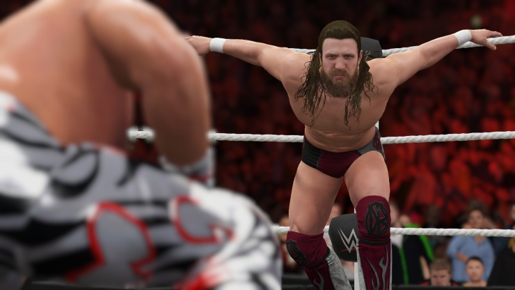 WWE 2K16 guy pretending to be a bird