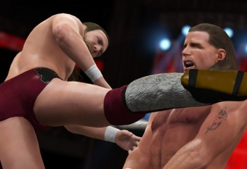 WWE 2K16 no idea what the fuck is happening to Shawn Micheals here