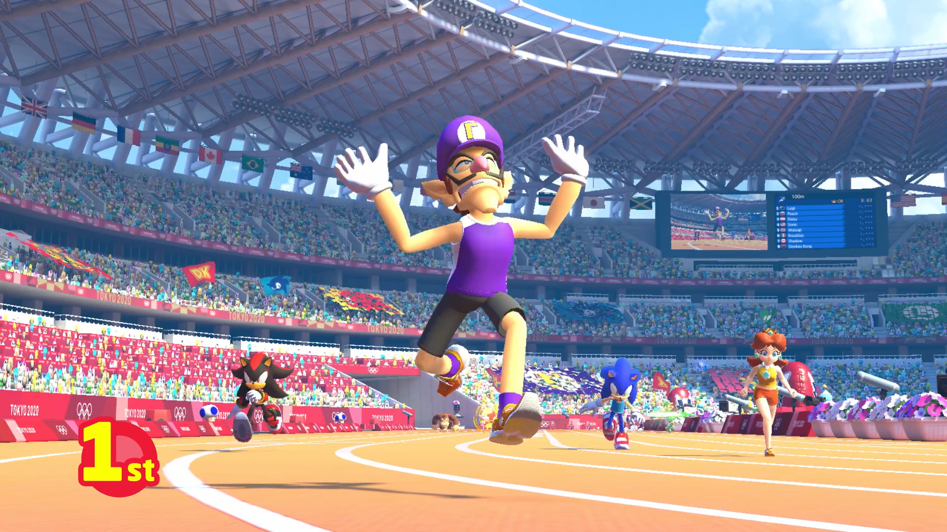 The top 5 best events in Mario & Sonic Tokyo 2020: 100m