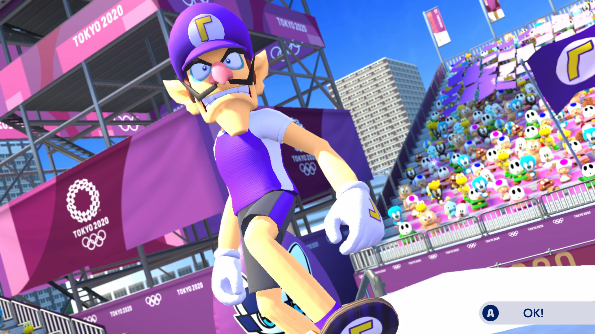 The top 5 best events in Mario & Sonic Tokyo 2020: Skateboarding