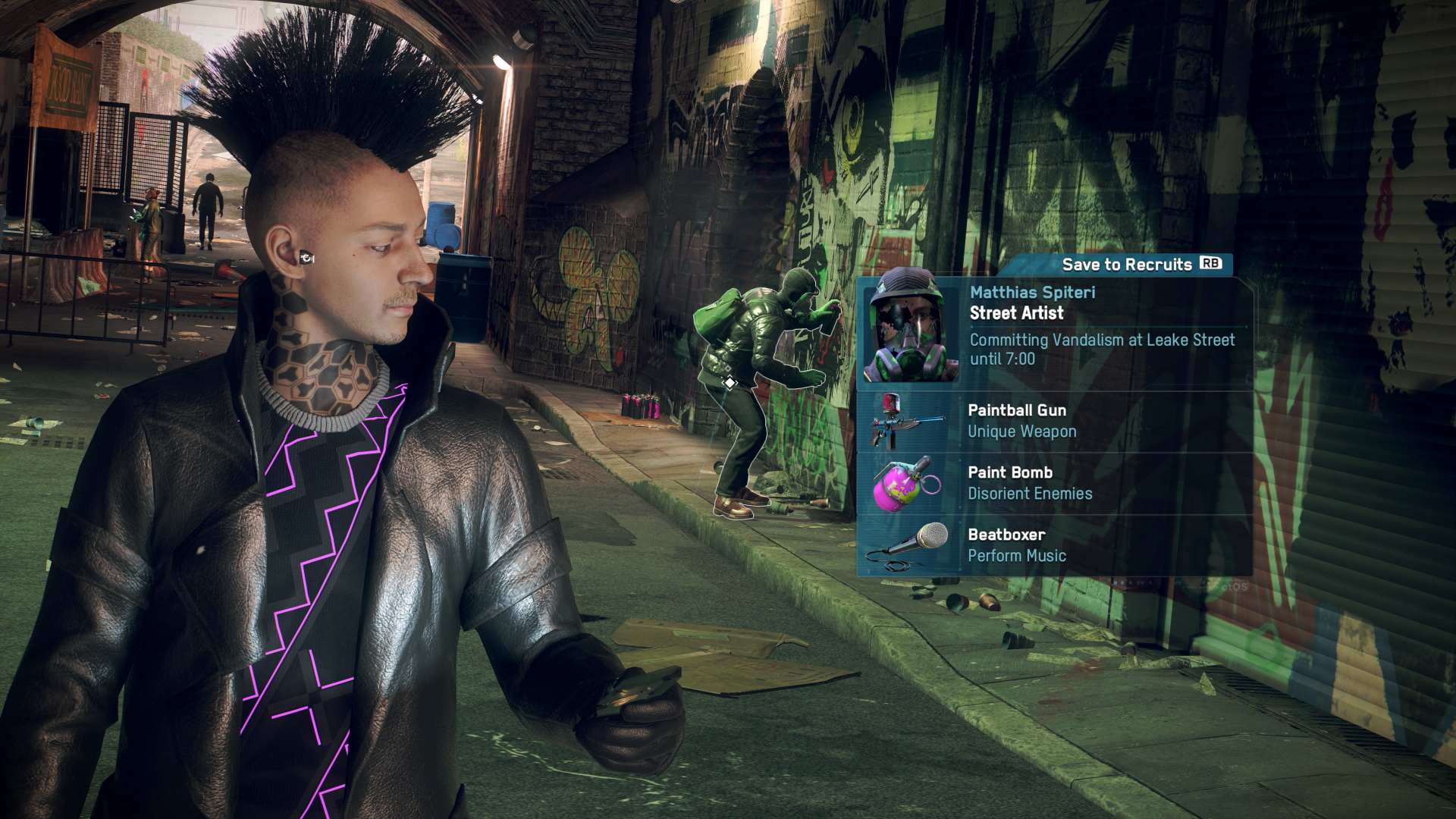 A screenshot from Watch Dogs Legion