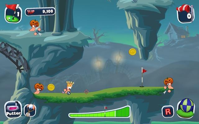 Worms: Crazy Golf - Pumpkin Head