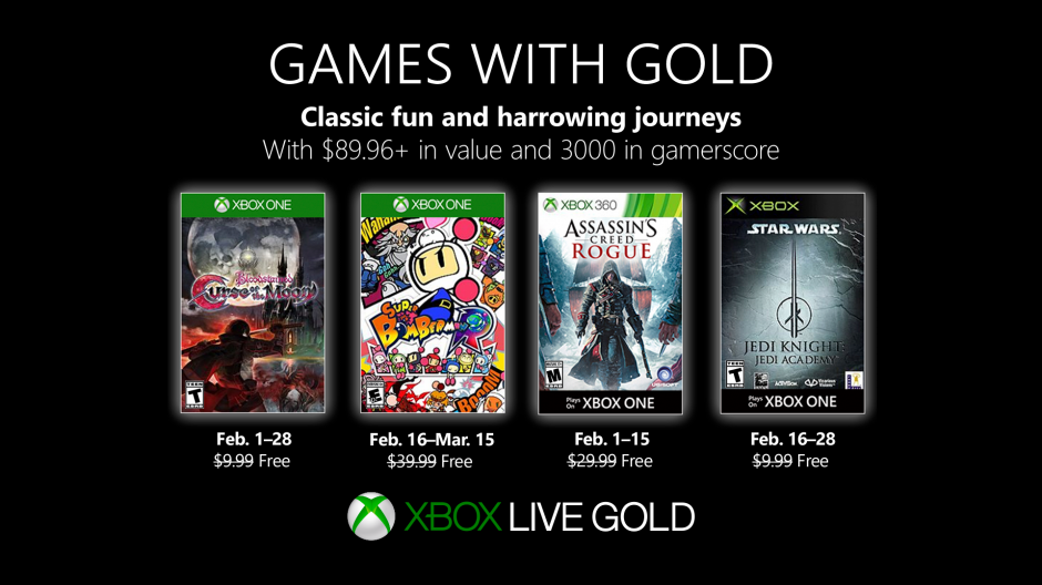 Xbox Games With Gold February 2020.Jedi Academy Included In February S Games With Gold On Xbox