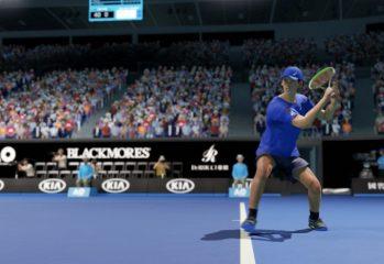 A screenshot of AO Tennis 2
