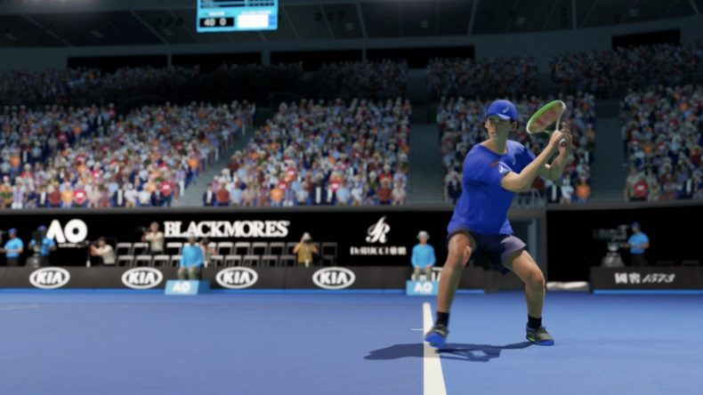 A screenshot of AO Tennis 2