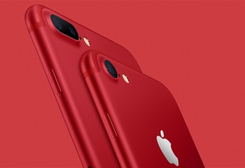 apple product red iphone