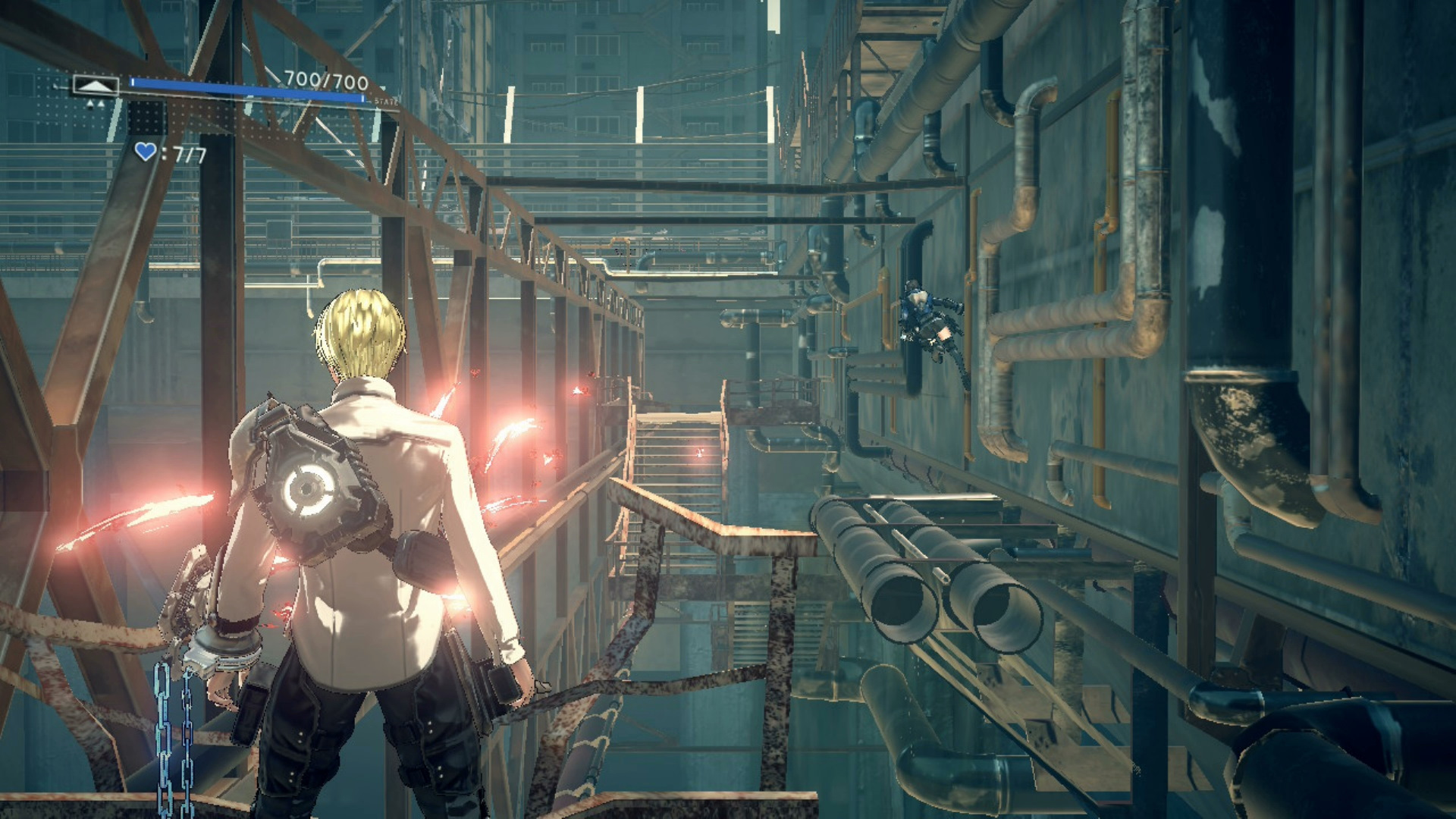 A screenshot from Astral Chain