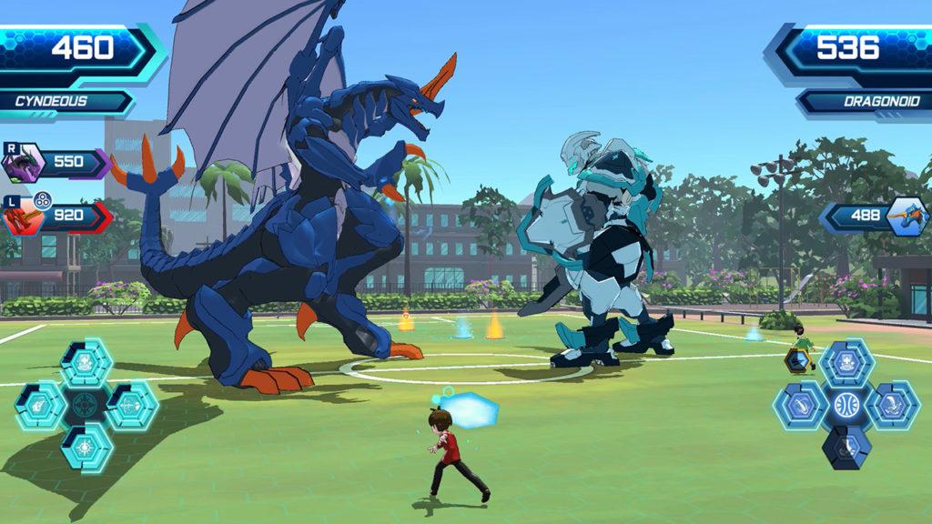 A screenshot of Bakugan: Champions of Vestroia