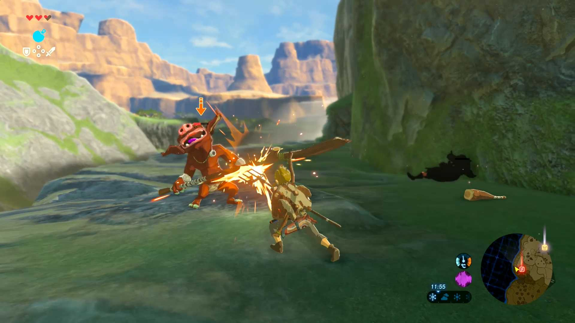 breath of the wild combat