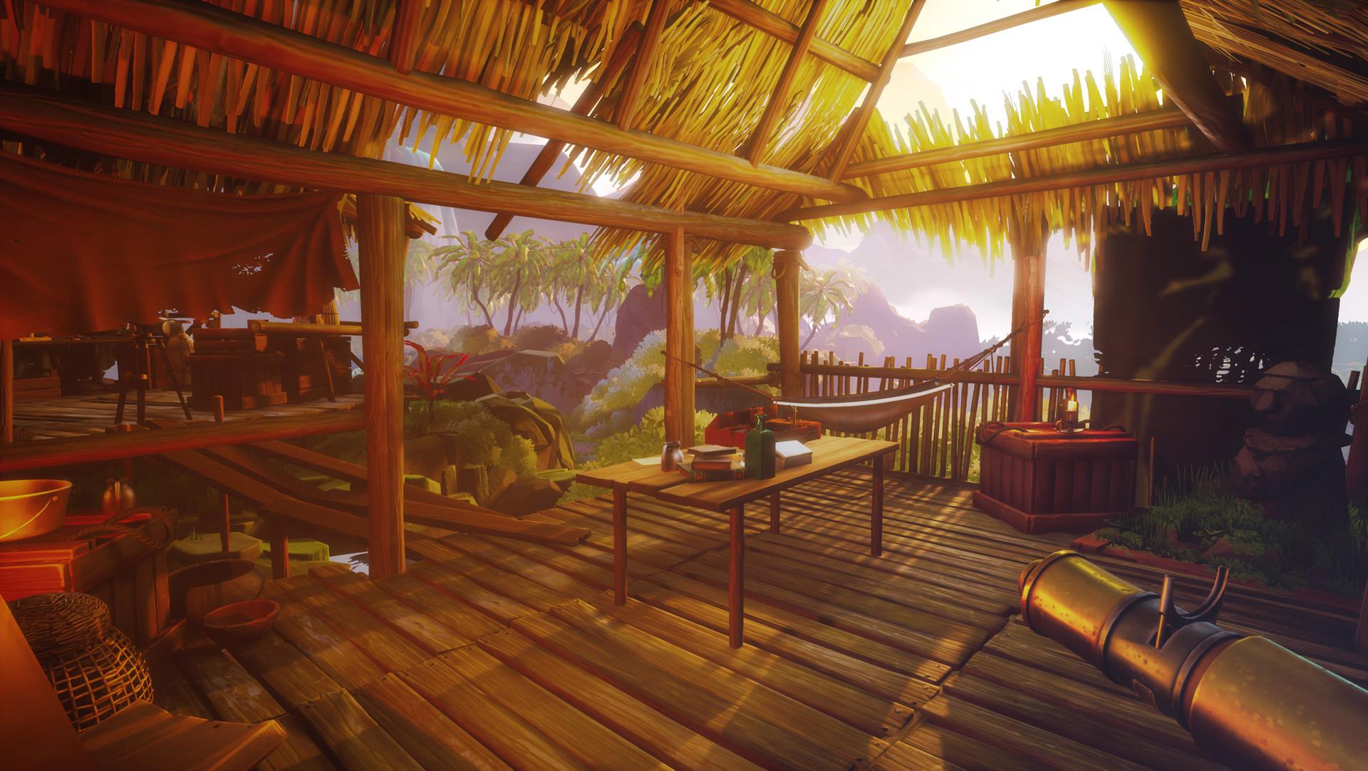 call of the sea island hut