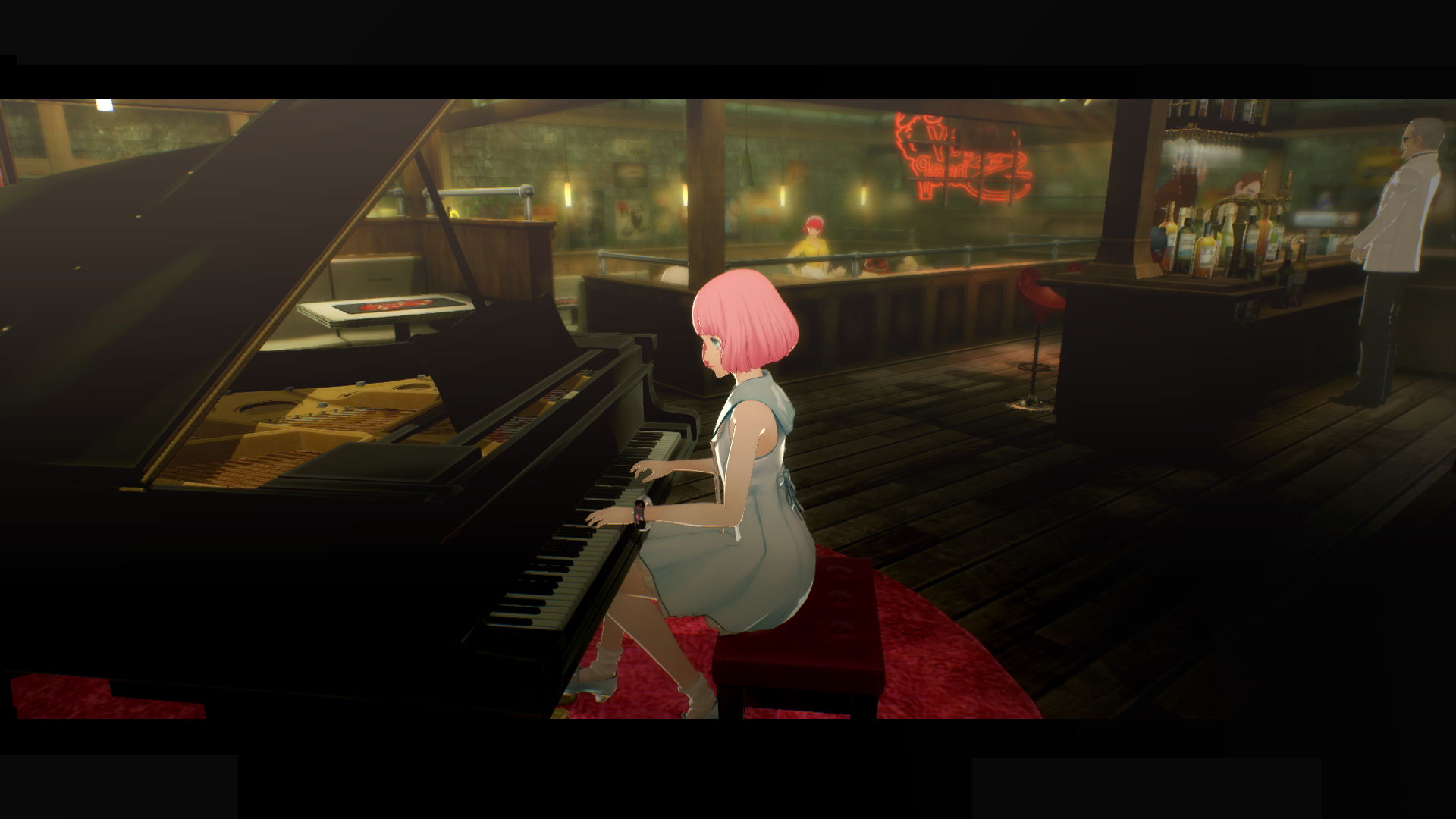 Qatherine playing piano