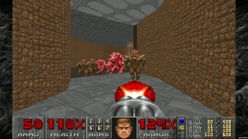 A screenshot of DOOM II