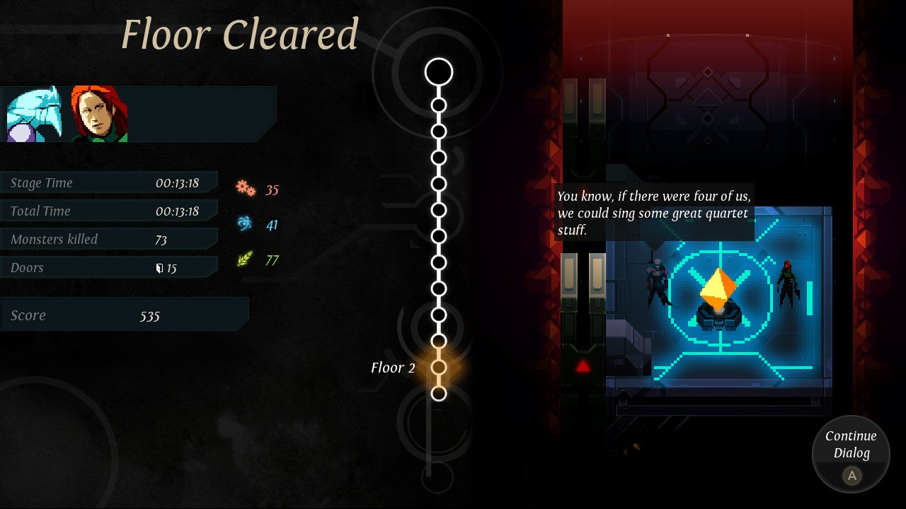 A screenshot of Dungeon of the Endless