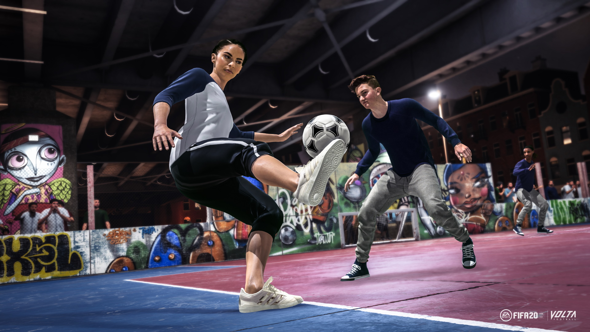 A screenshot from FIFA 20 Volta showcasing skill moves
