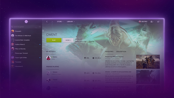 GOG Galaxy hits v1.2 and adds great new features