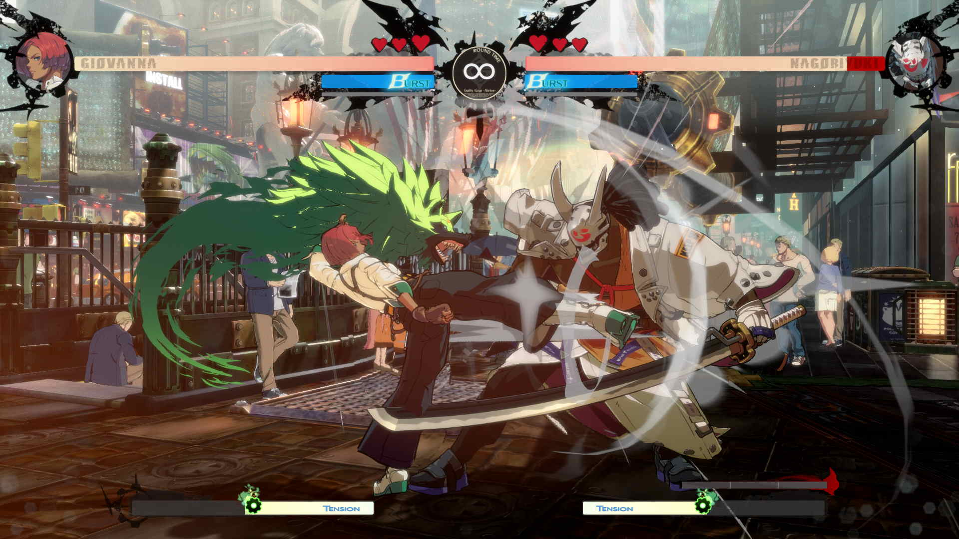 An in game screenshot of a fight