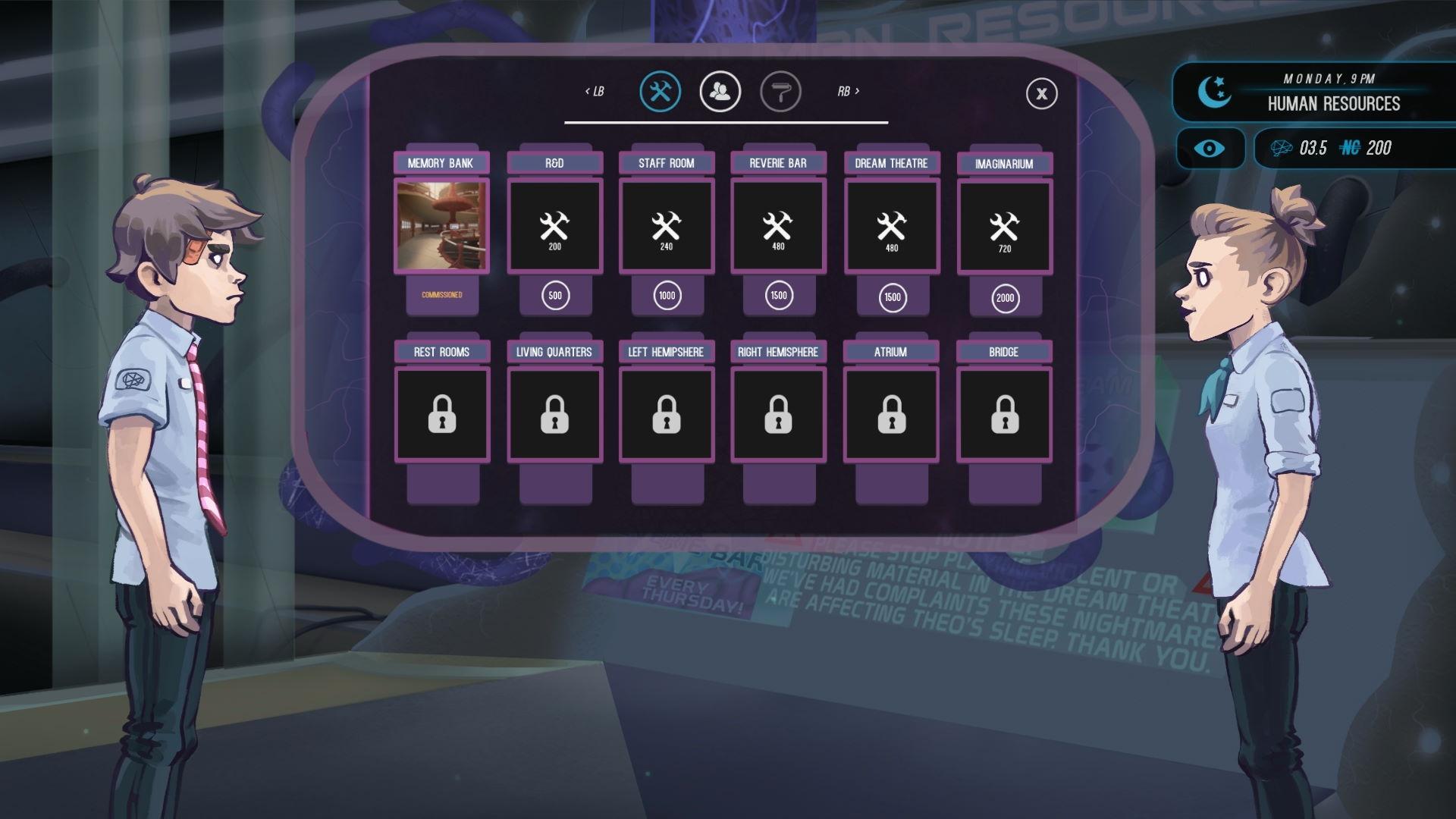 A screenshot from Headspun