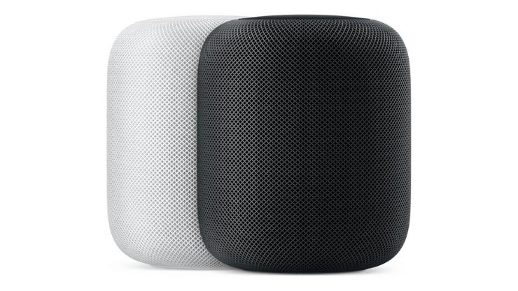 Apple Homepod: Side view