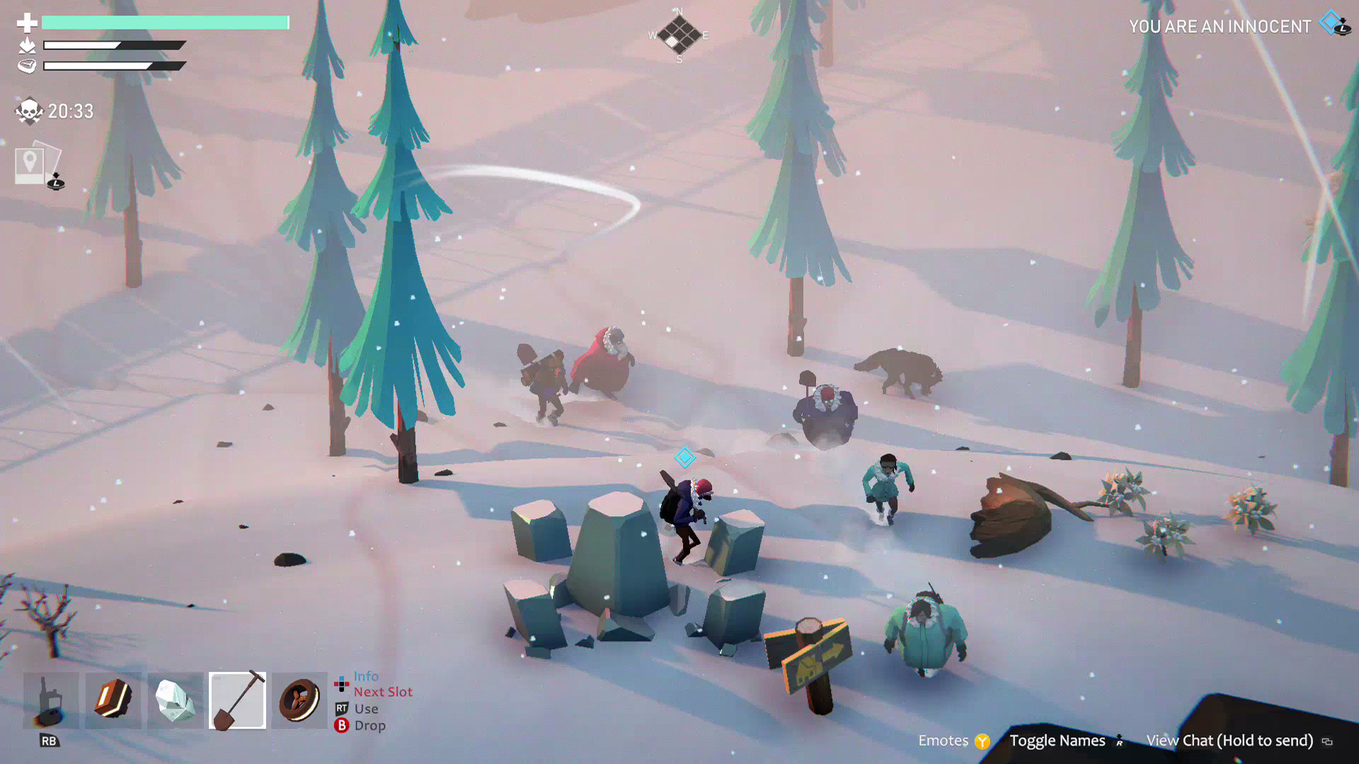 A screenshot from Project Winter