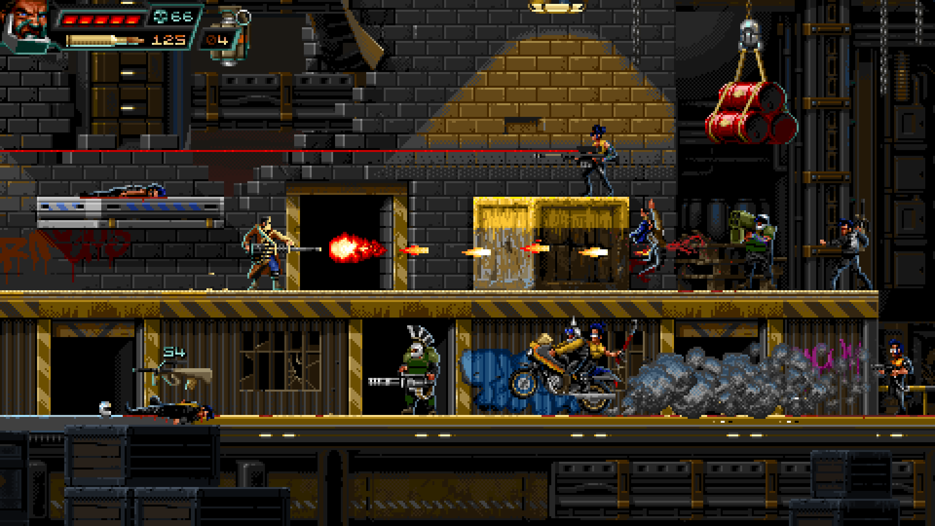 A screenshot from Huntdown