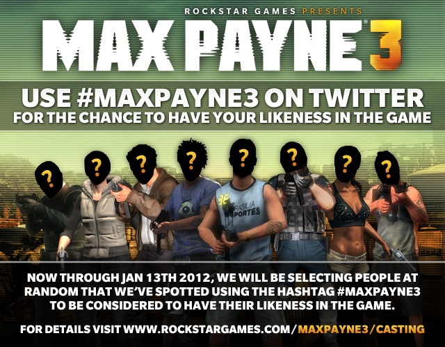 Your Likeness As A Max Payne 3 Multiplayer Character