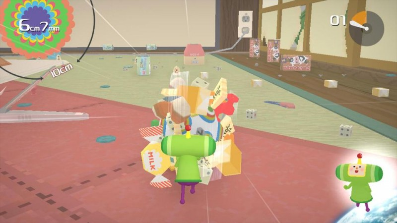 Katamari Damacy REROLL rolling around