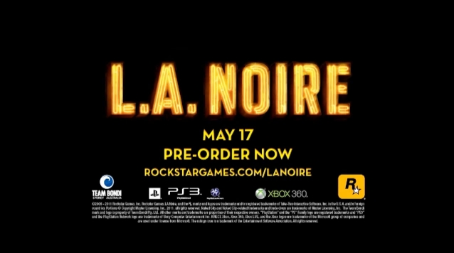 La noire 2 release date in Sydney