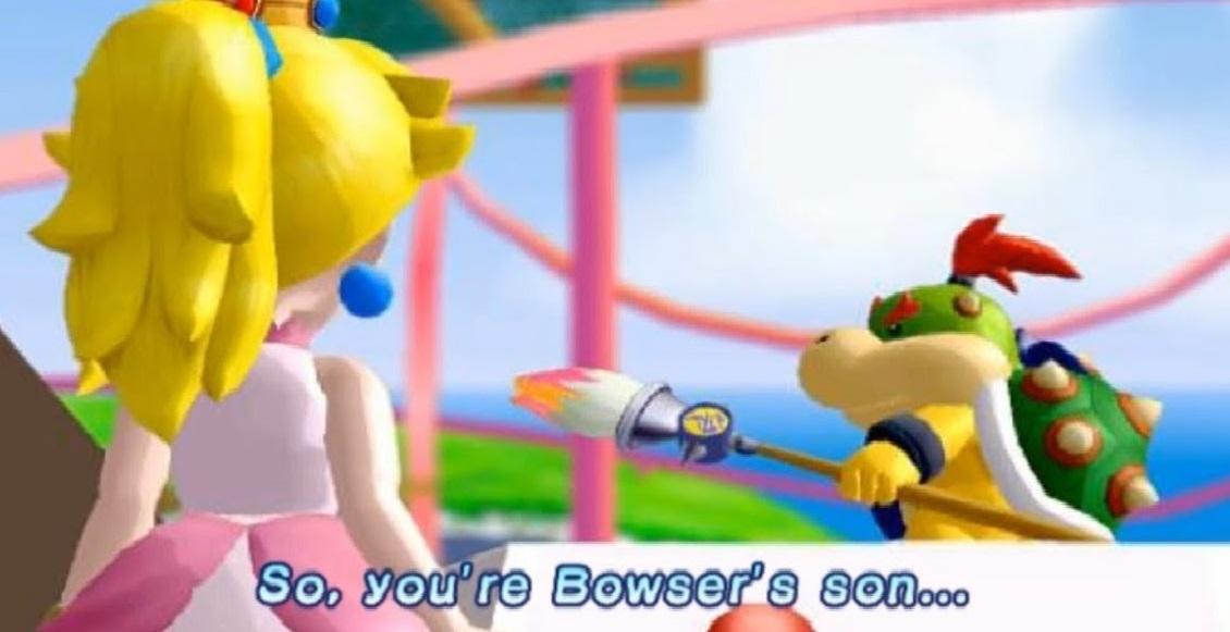 Peach and Bowser Jr