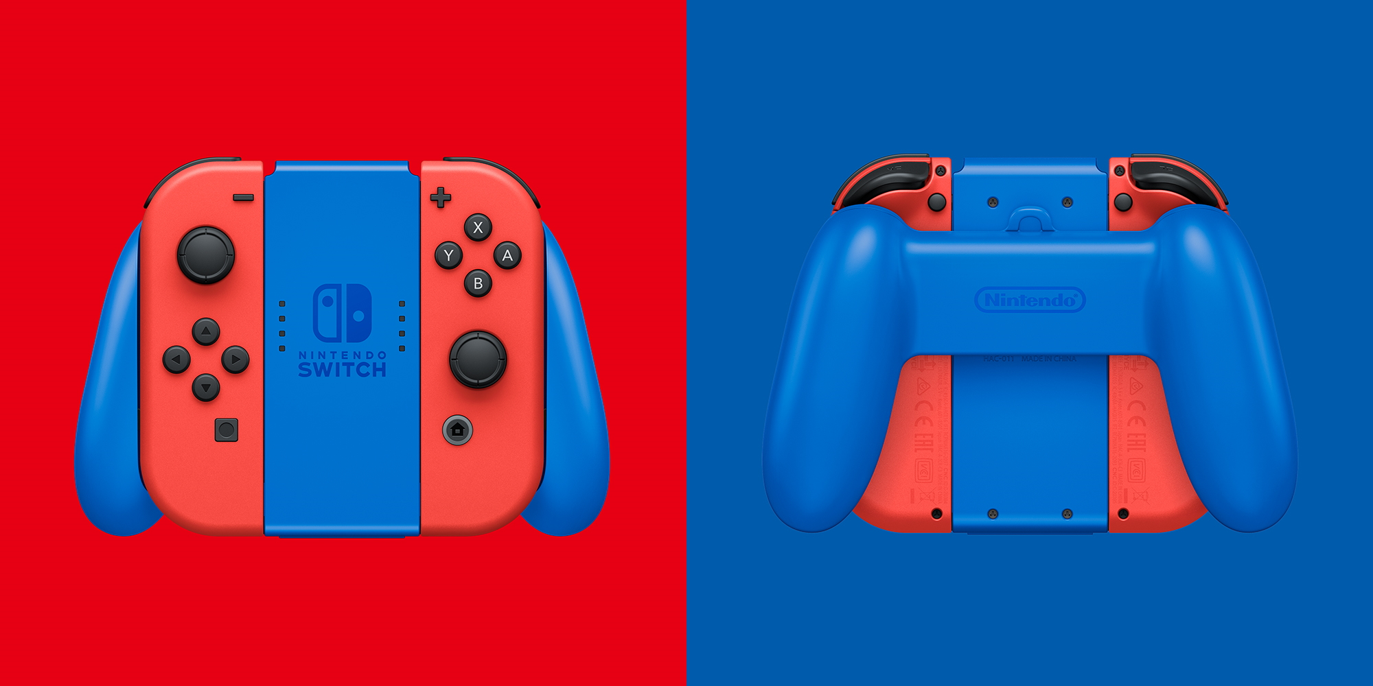 Mario Red & Blue Switch controllers