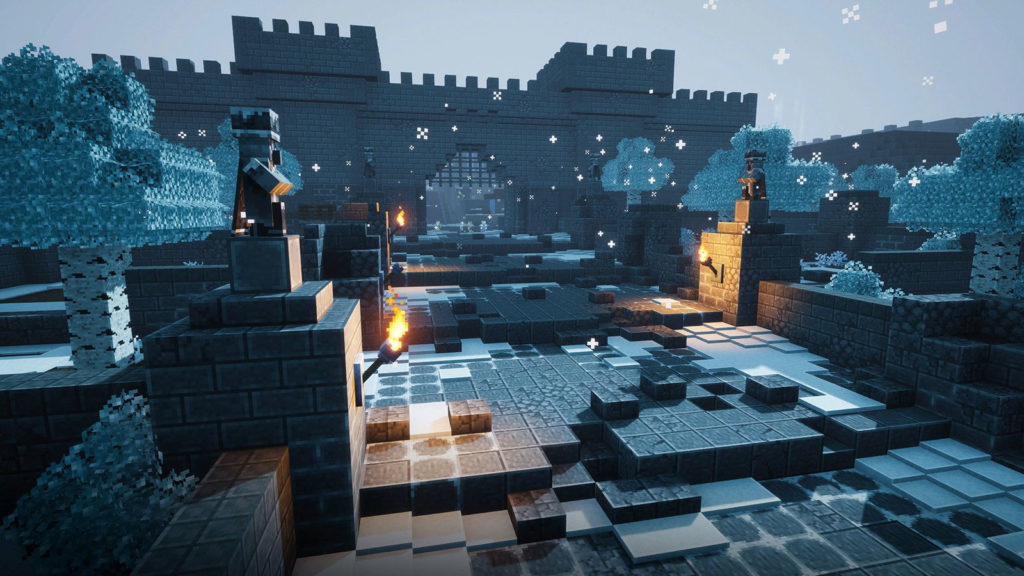 A screenshot of Minecraft Dungeons Creeping Winter from the Nintendo Direct mini Partner Showcase