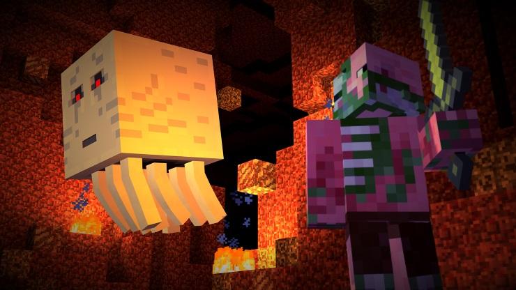 minecraft story mode Pigman Ghast