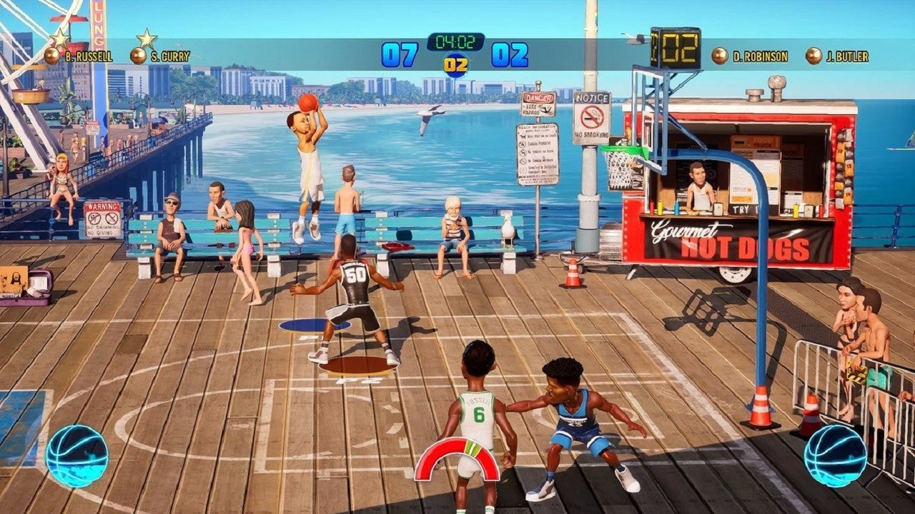 ff69a7b83f8950 ... moves occur depending on whether you re controlling an NBA star known  for a signature shot. Gameplay flows wonderfully from one end to the court