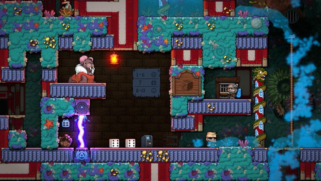 A screenshot of a dice game