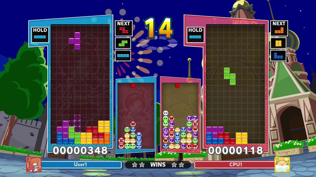 A screenshot of Puyo Puyo Tetris 2