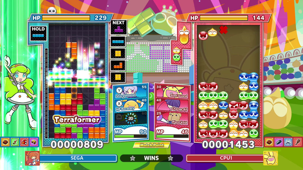 A screenshot of Puyo Puyo Tetris 2