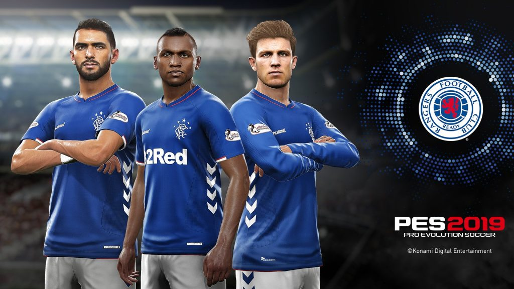 Rangers join the list of licensed teams for PES 2019 - GodisaGeek com