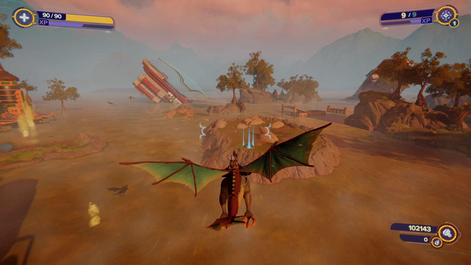Flying on Trudi in Ratchet & Clank: Rift Apart