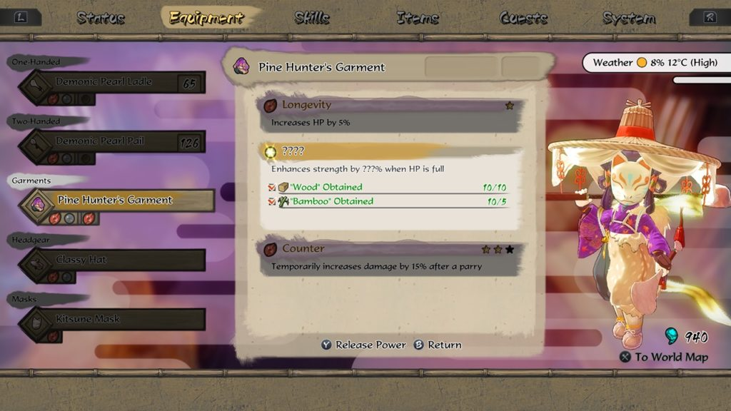 A screenshot of Sakuna: Of Rice and Ruin