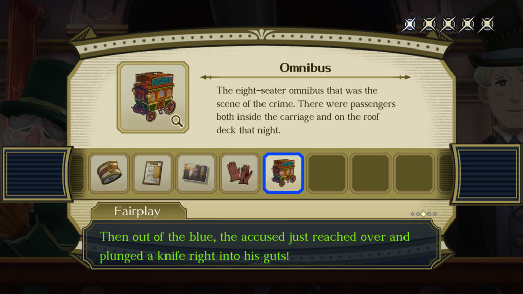 A screenshot of The Great Ace Attorney Chronicles