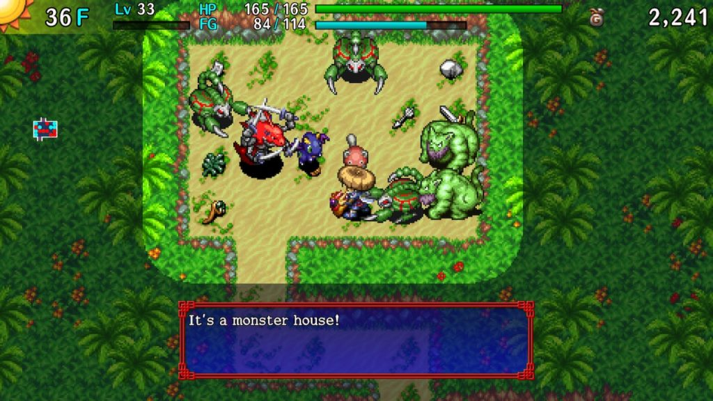 A screenshot of Shiren the Wanderer: The Tower of Fortune and the Dice of Fate