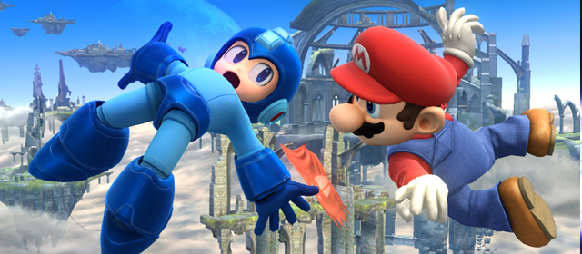 smash bros 4 mega man banner