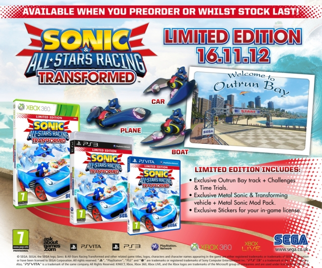 Sonic & All-Stars Racing Transformed: Limited Edition Revealed