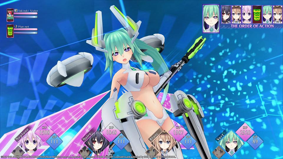 A screenshot of Neptunia ReVerse