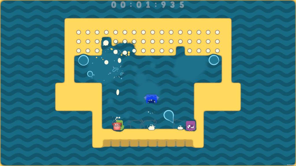 A screenshot of A Spitlings level