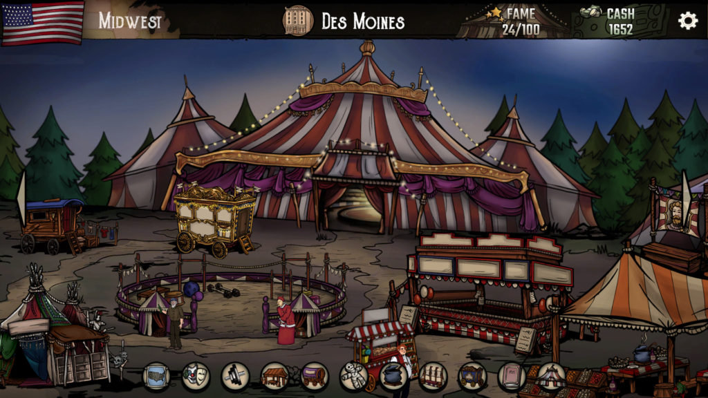 A screenshot of The Amazing American Circus