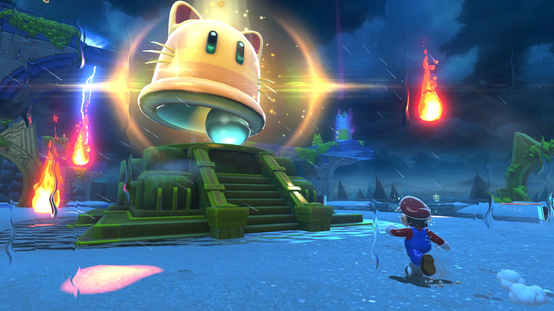Super Mario 3D World + Bowser's Fury screenshot: the giga bell