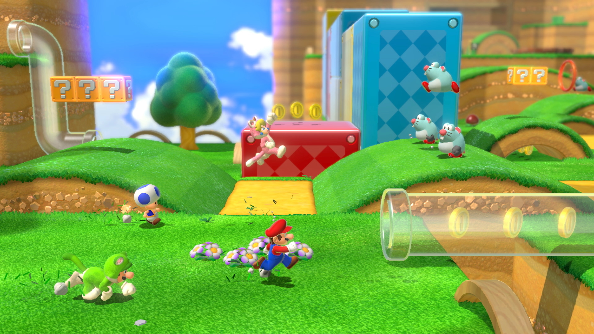 Multiplayer in Super Mario 3D World still feels superfluous